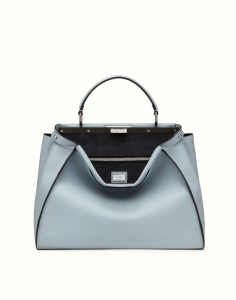 Fendi Peekaboo light blue calfskin leather